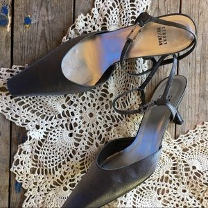 Stuart Weizman Slingback Gray/Silver Heels Size 10